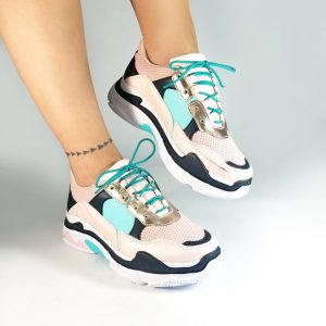 Tennis mujer CS016 en colores rosado y azul. Zapatos Mujer. Calzado Espia, Fabricante de zapatos para Dama. Tienda virtual Colombia.