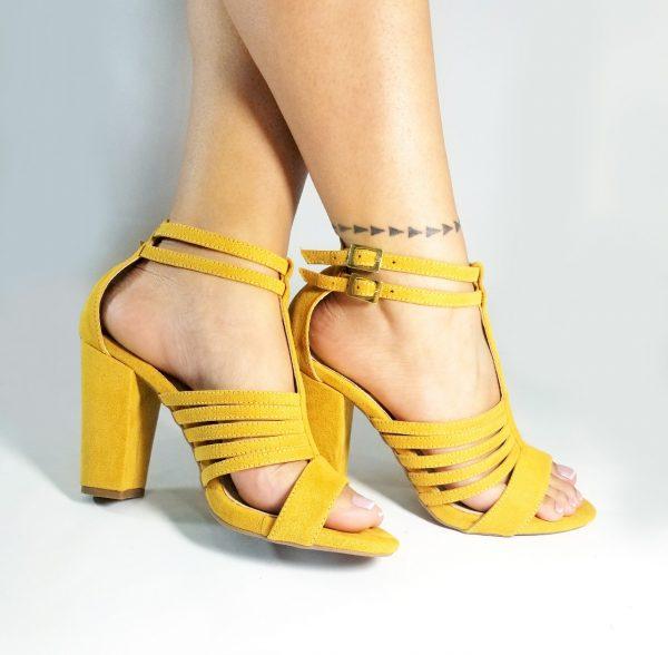 Zapatos tacón en color dorado.Zapatos Mujer. Calzado Espia, Fabricante de zapatos para Dama. Tienda virtual Colombia.
