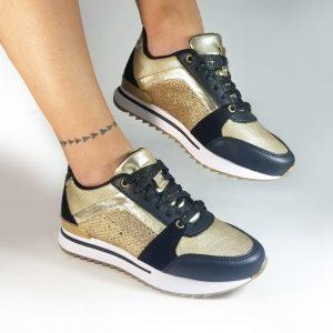 Zapatos Tennis mujer CS2019 en color dorado.Zapatos Mujer. Calzado Espia, Fabricante de zapatos para Dama. Tienda virtual Colombia.