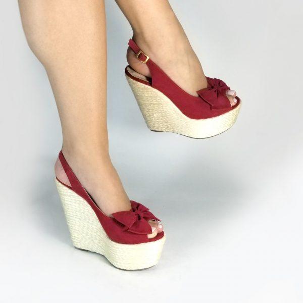 Plataforma Yute 860U en colores negro, rojo y miel.Zapatos Mujer. Calzado Espia, Fabricante de zapatos para Dama. Tienda virtual Colombia