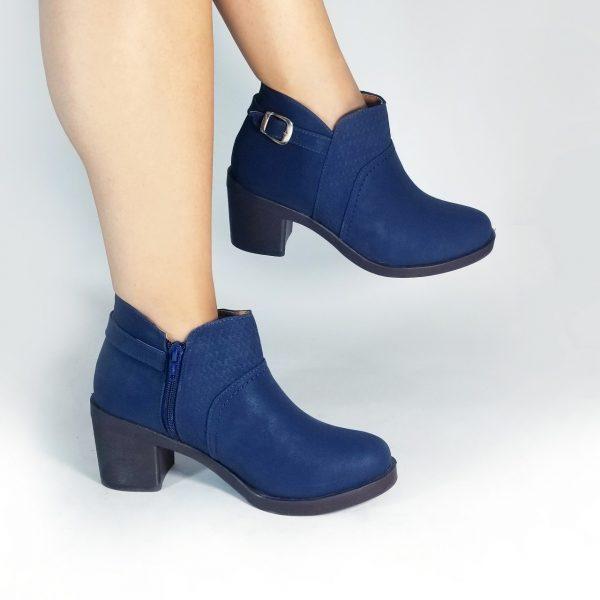 Botines SM751 en colores negro y azul.Zapatos Mujer. Calzado Espia, Fabricante de zapatos para Dama. Tienda virtual Colombia