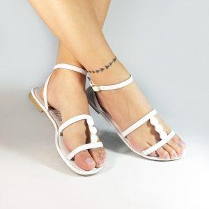 Sandalias planas GC856 en colores blanco, negro, rojo y melocotón.Zapatos Mujer. Calzado Espia, Fabricante de zapatos para Dama. Tienda virtual Colombia