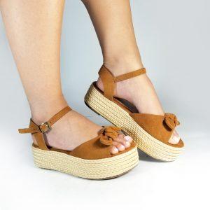 Sandalia plataforma MC775 en colores negro, azul y miel.Zapatos Mujer. Calzado Espia, Fabricante de zapatos para Dama. Tienda virtual Colombia