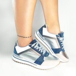 Zapatos Tennis CS3016 en colores azul y rosado.Zapatos Mujer. Calzado Espia, Fabricante de calzado para Dama. Tienda virtual Colombia.