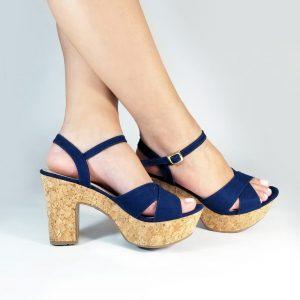 Zapatos Tacón 718U e colores azul, mostaza y nude.Zapatos Mujer. Calzado Espia, Fabricante de zapatos para Dama. Tienda virtual Colombia