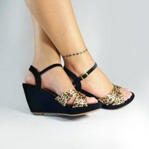 Zapatos plataforma mujer S683 en color negro.Zapatos Mujer. Calzado Espia, Fabricante de zapatos para Dama. Tienda virtual Colombia