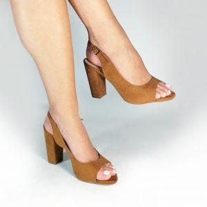 Zapatos tacón A54 en colores negro y miel. Zapatos Mujer. Calzado Espia, Fabrica de calzado para mujer. Tienda virtual Colombia