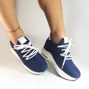 Zapatos tennis CS0727 en colores negro y azul.Zapatos Mujer. Calzado Espia, Fabricante de zapatos para Mujer. Tienda virtual Colombia
