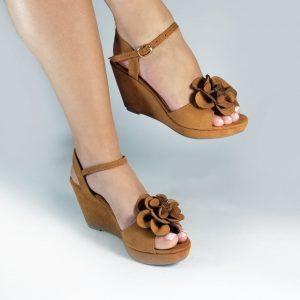 Plataformas flor S681 en colores negro, azul, miel y nude.Zapatos Mujer. Calzado Espia, Fabricante de zapatos para Dama. Tienda virtual Colombia