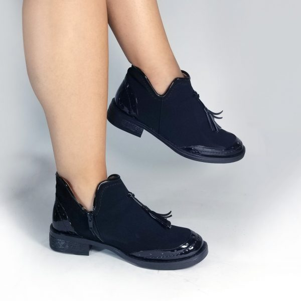 Botín mujer SM610 en color negro.Zapatos Mujer. Calzado Espia, Fabricante de zapatos para Dama. Tienda virtual Colombia
