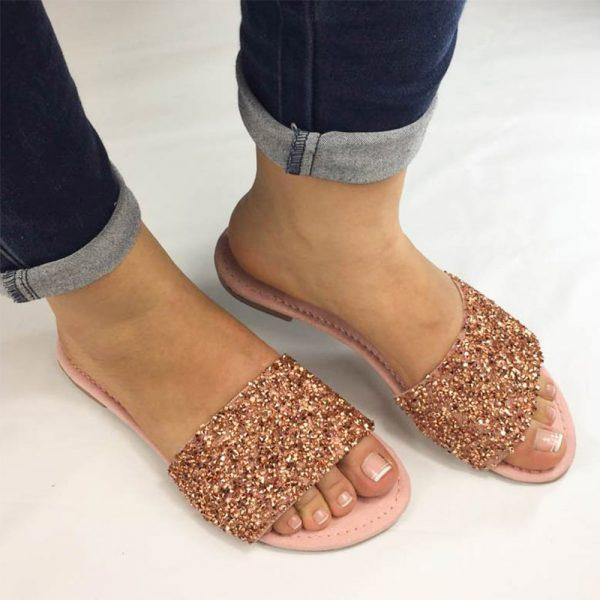 Sandalias planas tipo suecas. Zapatos Mujer. Calzado Espia, Fabricante de zapatos para Dama. Tienda virtual Colombia