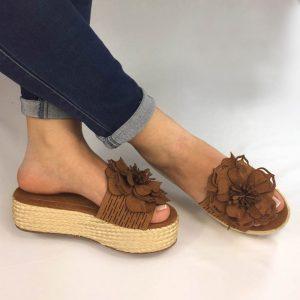 Zapatos plataforma en yute zuecos en colores negro, azul y miel. Zapatos Mujer. Calzado Espia, Fabricante de zapatos para Dama. Tienda virtual Colombia