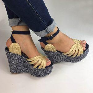 Zapatos plataforma en colores negro, azul y champagne. Zapatos Mujer. Calzado Espia, Fabricante de zapatos para Mujer. Tienda virtual Colombia