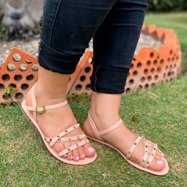 Sandalias planas. Zapatos Mujer. Calzado Espia, Fabricante de zapatos para Dama. Tienda virtual Colombia