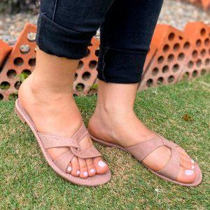 Sandalias planas tipo zuecas. Zapatos Mujer. Calzado Espia, Fabricante de zapatos para Dama. Tienda virtual Colombia