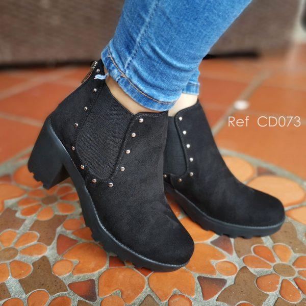Zapatos botines en colores negro. Zapatos Mujer. Calzado Espia, Fabricante de zapatos para Mujer. Tienda virtual Colombia