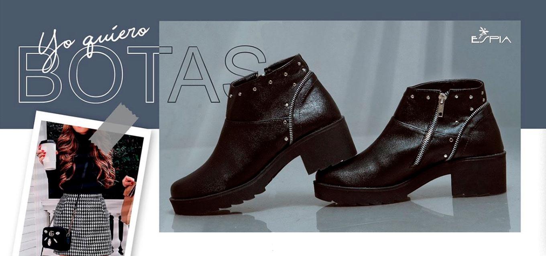 Botines en colores negro. Zapatos Mujer. Calzado Espia, Fabricante de zapatos para Mujer. Tienda virtual Colombia