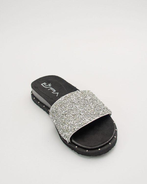 Sandalia dama SS701 en color plata