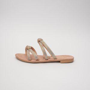 Sandalia dama V2012 en color oro rosa