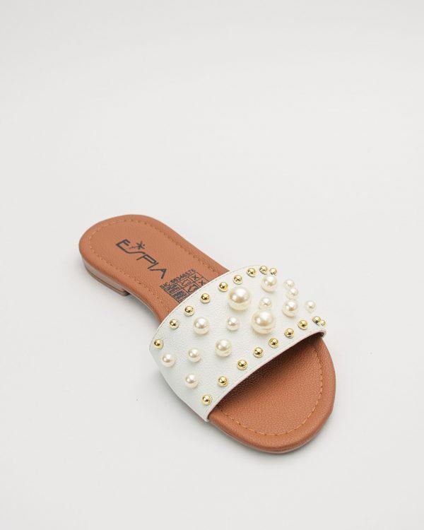 Sandalia dama CT468 en color blanco