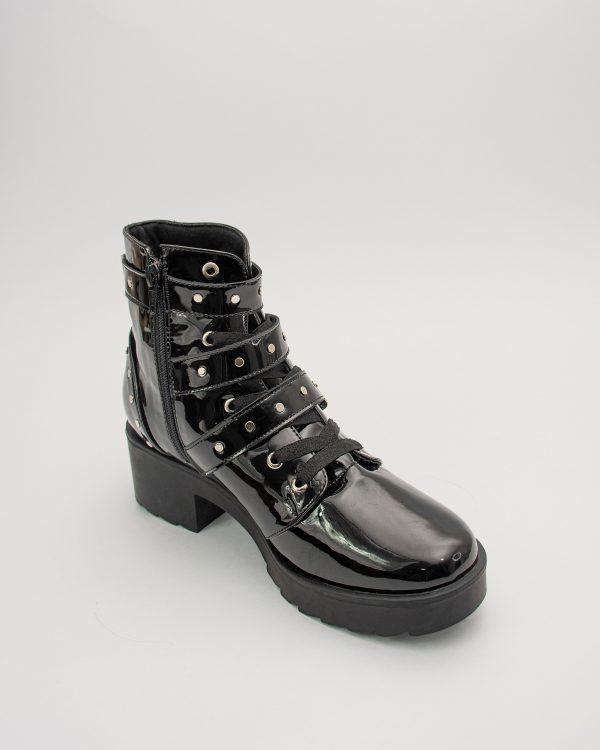 Bota dama JJ17 en color negro charol