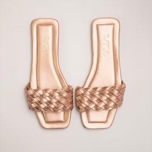 Sandalia dama V4063 en color oro rosa